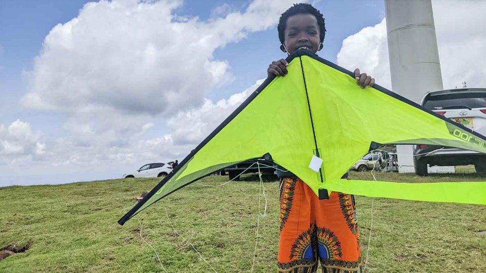 Kiting at Ngong Hills